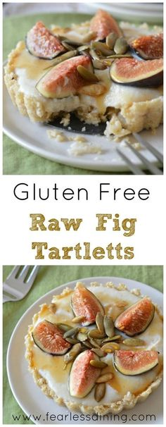 Gluten Free Raw Fig Tarts are a wonderful no bake dessert for any occasion. http://www.fearlessdining.com