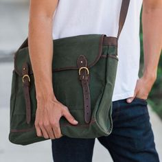 Have you checked out our men's collection? Our messenger bags are a great gift — each one is handmade by artisans in Kenya