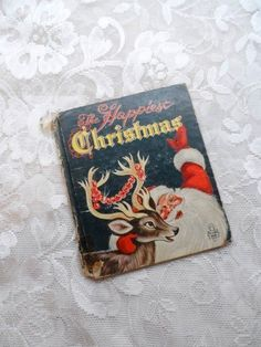 The Happiest Christmas-1955 Whitman Publishing-by Jessie Home Fairweather-Pictures Irma Wilde-Tell A Tale Book-Orphaned Treasure-101916F by OrphanedTreasure on Etsy