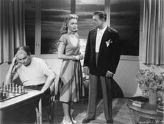 Film still from Voice of The Whistler (1945)  Darmour Productions • Richard Dix and Lynn Merrick