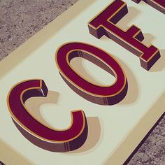 Tj Pinstriping: COFFEE sign for sale