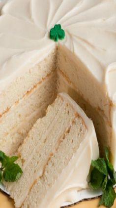 Irish Cream Cake for St. Patty's Day
