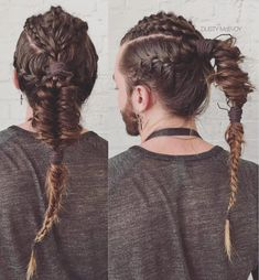 51 Trendy Braids For Men Guys Long Hair You are in the right place about hair styles m Kids Braided Hairstyles, Hairstyles Haircuts, Viking Hairstyles, Mens Braids Hairstyles, Top Haircuts For Men, Flat Top Haircut, Natural Hair Styles, Short Hair Styles, Top Braid