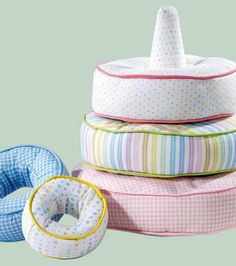 These fabric stacking toys are sew adorable for babies and toddlers to play with!