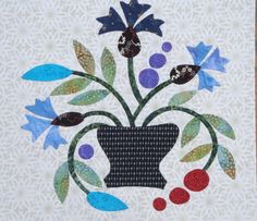 Block 8 - Applique Affair - Edyta Sitar.  (Laila Nelson)