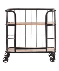 Industrial Wood U0026 Metal Trolley Bar Cart | Zulily