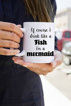 This holiday season let everyone know you drink like a fish because you are infact, a mermaid. This mug would make a great Christmas gift. PLEASE NOTE: SHIPPING IS SET TO FLAT RATE, IF YOU REQUIRE A DIFFERENT SHIPPING METHOD FOR HOLIDAY DEADLINES, PLEASE CONTACT ME BEFORE ORDERING FOR
