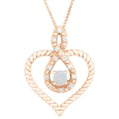 Diamond Opal October Birthstone Heart Infinity Pendant In Rose Gold Available Exclusively at Gemologica.com Valentine's Day 2017 #Jewelry #Gift #Ideas for #Him #Her Kids. #Gemologica has simple, unique #gifts for boyfriend, girlfriend, couples including #rings #earrings #bracelets #necklaces #pendants #Jewellery #couponcode #deals #sale #Presents for #girlfriends #boyfriends #kids #men #women #Gold #Silver #Fashion #Style