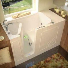 "Avano AV3060WILBD Walk-In Tubs 60"" Gel Coated Air / Whirlpool Bathtub for Alcove"