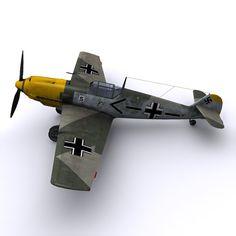 german adolf galland bf 109 3d model