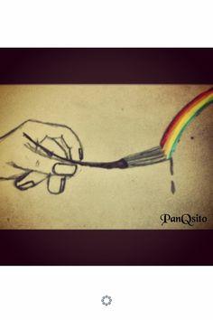 Por qué en estas manos esta el deseo e pintar, crear, no solo el dibujo sino la intencionalidad.