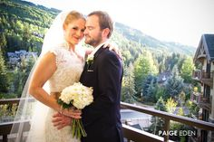 There are so many great places at the #resort for your #wedding photoshoot - Here we offer a beautiful shot of #Vail Mountain off of a guestroom balcony. Photography © Paige Eden