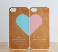 cute idea, His & Her iPhone covers..