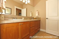 1000 images about bathroom cabinet ideas on pinterest for Bathroom ideas with oak cabinets