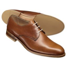 Brown casual Derby shoes | Men's business shoes from Charles Tyrwhitt, Jermyn Street, London