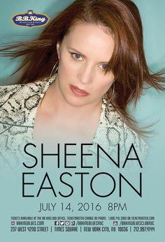 Sheena Easton (7.14.16) / Tix @ http://www.ticketmaster.com/event/000050ACBFE855BE?brand=bbkingblues&camefrom=cfc_pinterest
