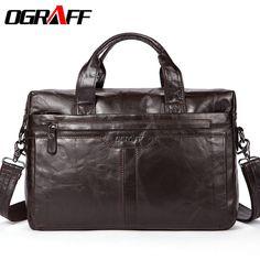 b5623f09edd4 Ograff из натуральной кожи Для мужчин сумка Сумки Мужские Портфели Сумки на плечо  сумка для ноутбука