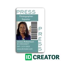 15 best press pass images on pinterest card templates paper the press pass vert id card is a great solution to those that work in the media industry these high quality cards can be customized for any organization or maxwellsz