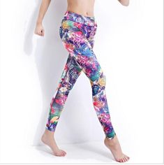 New Women Floral Yoga Pants    This new women floral yoga pants is made of nylon, spandex and polyester.  Its fabric type is broadcloth and closure  is elastic waist. Additionally, it fits true to size. Hence, please choose your normal size. Thanks.Pin it for later!    Note: Please allow 2 to 4 weeks for delivery.