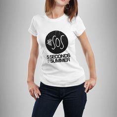 5sos logo w white Unisex Adult T-shirt
