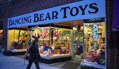 "One of the many delights in historic Hendersonville Main Street is DANCING BEAR TOYS.  Kids will be thrilled with the variety of fascinating toys, stuffed animals & everything to entertain kids.  The staff promises: ""We work hard to bring you the best, the weirdest, and the most unique toys on the market. We have hundreds of demos available and we're always ready to play with you!"" (Romantic Asheville photo)   418 North Main Street, Hendersonville, NC   (828) 693-4500…"