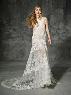 vestido de noiva INDUSTRIA de yolancris boho folk 2016 muito largo estilo hippie