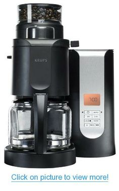 KRUPS KM700 Grind and Brew Coffee Maker with Stainless Steel Conical Burr Grinder, 10-cup, Black