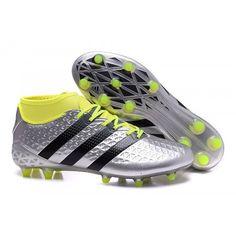 san francisco 8e681 839f6 Adidas Ace Fútbol - Adidas ACE 16 1 Primeknit Baratas Botas De Futbol FG-AG  Plata Negro
