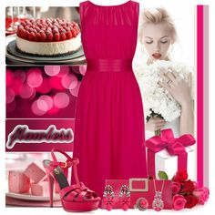 """""""Raspberry"""" by cly88 on Polyvore"""