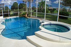Enclosed pool and spa