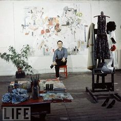 Artist and Studio, artists in their studios- Larry Rivers