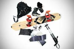 Splitsticks - snowboard and hike skis