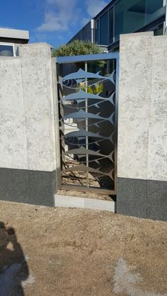Takapuna, Auckland Stainless steel fish gate made by laser cutting!