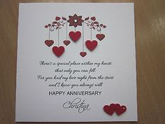 Happy anniversary cards for husband cute cards pinterest happy personalised handmade anniversary engagement wedding day card husband wife m4hsunfo