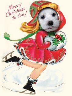 A Bichon's Christmas greeting, via Etsy.
