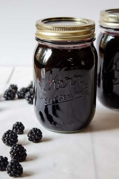 Homemade seedless blackberry jam made with wild blackberries and sugar. No added pectin. This blackberry jam is perfect on toast or homemade biscuits. Seedless Blackberry Jam, Homemade Blackberry Jam, Blackberry Jam Recipes, Wild Blackberry Jelly Recipe, Blackberry Jam No Pectin, Jelly Recipes, Fruit Recipes, Drink Recipes, Canning Blackberries