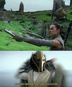 Plot twist... it's been general Grievous the whole time! He just wanted another fine addition to his collection.
