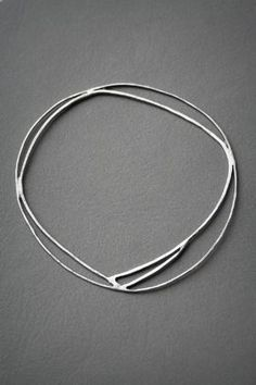 Simple silver bangle #silverbracelet