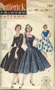 My fav dress style!  Hmmm.... I wish I knew  anyone who could sew.