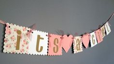 Baby Shower Banner Rustic Shabby Chic Girl Baby by wittypaper