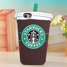 Chocolate 3D Cartoon Starbuck Coffee Cup Silicon Phone Case