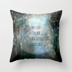 Her Own Fairytale Throw Pillow by Ally Coxon - $20.00