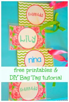 Back to School! - free printable and DIY Personalized Bag Tags for Lunch Box and Backpack