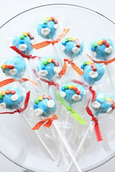 Try cupcake: Icing + one half marshmallow for cloud + M&Ms for rainbow.