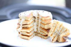 Paleo Lemon Poppyseed Pancakes (Predominantly Paleo) Breakfast Smoothies, Paleo Breakfast, Breakfast Time, Breakfast Ideas, Breakfast Recipes, Paleo Recipes, Real Food Recipes, Yummy Food, Bread Recipes