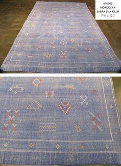 Moroccan Sabra Silk Kilim
