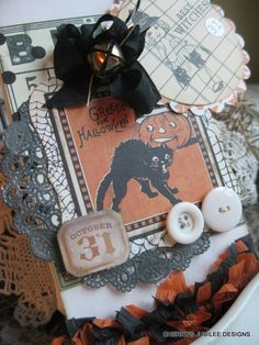 .Halloween card vintage