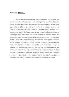 modelo de relatório de avaliação