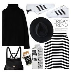"""""""Tricky Trend: Pencil Skirt and Sneakers"""" by houseofhauteness ❤ liked on Polyvore featuring adidas, A.P.C., Dolce&Gabbana, Alexander Wang, Ryan Roche and Arche"""