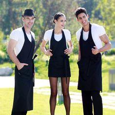 Kitchen aprons men women fashion clothes for work cooking waiter apron coffee shop chef uniform delantal avental print logo